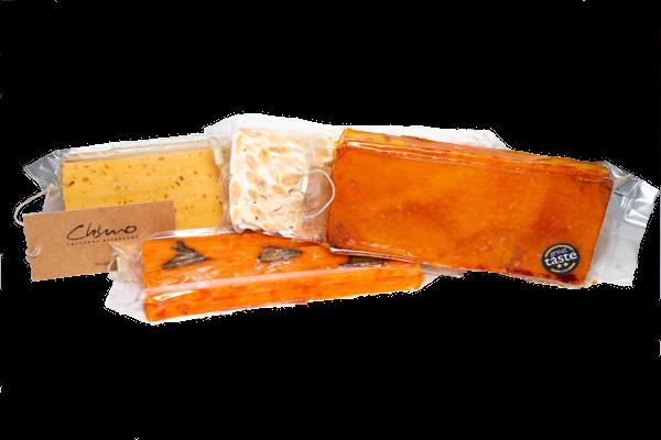 "Lote ""Mis turrones favoritos"" - Turrón blando + Turrón yema tostada + Turrón duro + Turrón de naranja"