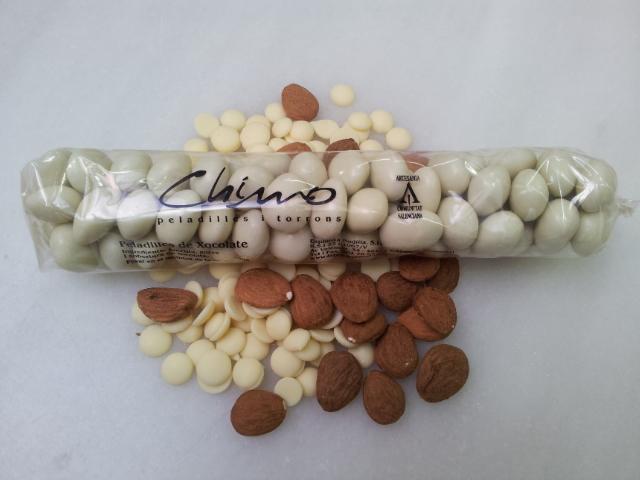 Peladillas chocolate blanco.200g
