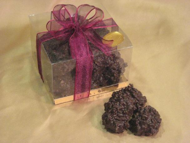 Cajita Bombones chocolate negro.